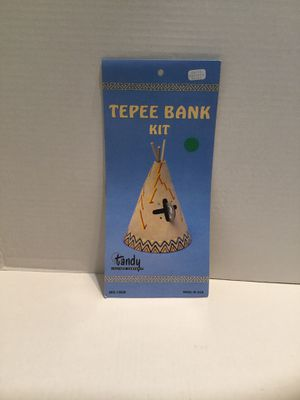 Vintage Tandy Leather Tepee Bank Kit SKU 3038 New sealed in original package for Sale in Riverside, CA