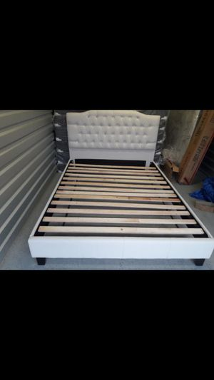 NEW QUEEN SIZE BED FRAME MATTRESS SOLD SEPERATELY AVAILABLE FOR DELIVERY for Sale in Miami, FL