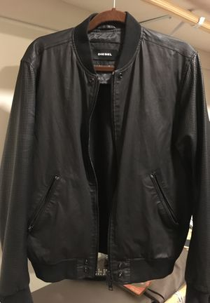 Diesel Leather Jacket 100% Authentic Size L for Sale in Rockville, MD
