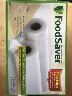 Food Saver- vacuum packaging rolls for Sale in Springfield, VA