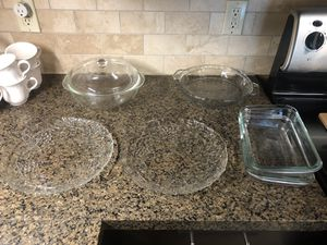 Serving and Pyrex Plates Glasses,Set of 6 for Sale in Orange, CA