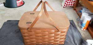 Wooden Picnic Basket for Sale in Fredericksburg, VA
