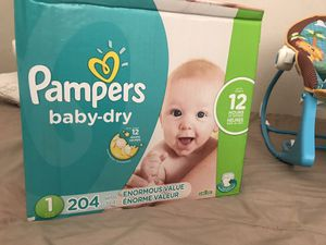 PAMPERS Baby Dry Size 1 for Sale in Victorville, CA