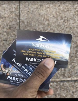 SeaWorld Orlando Tickets + All Day Dining , Quick queue( Fast Pass) available for Sale in Orlando, FL