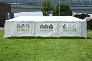 MCombo 10x30 Feet Outdoor Heavy Dute Canopy Tent Wedding Party Waterproof Gazebo Pavilion with Removable Sidewalls 6052-T1030W-5pc (10'x30'-5pc with for Sale in Pico Rivera, CA