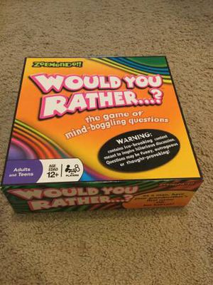 Would You Rather....? Family Board Game for Sale in Tigard, OR