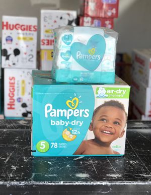 Diapers and wipes bundle for Sale in Fontana, CA