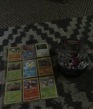 Pokemon tin w/ 18 cards for Sale in Lodi, CA