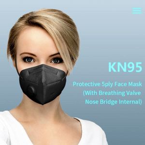 Pack x 5 Pieces - Black Breathable Face Masks KN95 Mask With Valve for Sale in Hanover, MD