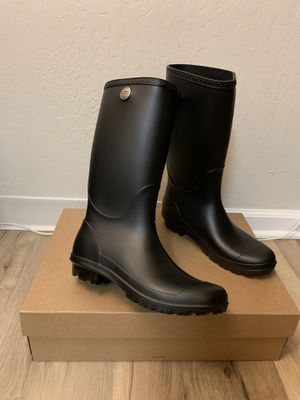 100% Authentic Brand New in Box UGG Shelby Matte Rain Boots / Women size 10, women size 11 and Women size 12 available / Color Black for Sale in Lafayette, CA