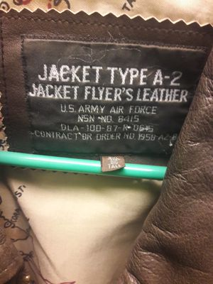 Bomber jacket military contractor issue type A2 for Sale for sale  Montclair, CA