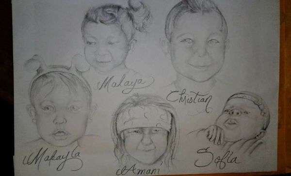Custom painted artwork and pencil drawn portraits.