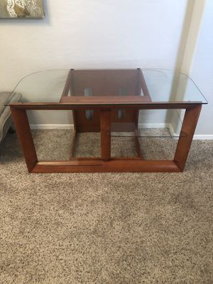 Glass top tv stand tv credenza for Sale in Gilbert, AZ