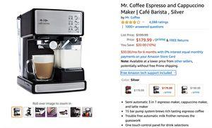 Mr. Coffee Espresso and Cappuccino Maker   Café Barista , Silver for Sale in Las Vegas, NV