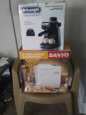 Brand new bread maker and cappuccino machine for Sale in Columbus, OH