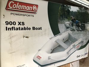 Coleman inflatable boat cost me 500.00 asking 300.00 I only used one time for Sale in San Antonio, TX