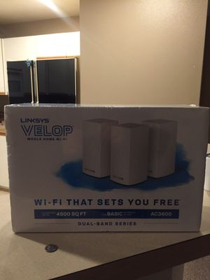 Linksys velop AC3600 WiFi router for Sale in Kent, WA