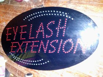 Eyelash extension sign for Sale in Abilene,  TX
