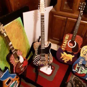 CozartHandmade And Painted 12-string Guitar for Sale in Clearwater, FL