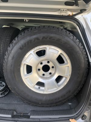 Chevy suburban factory rims with Goodyear tires for Sale in Perth Amboy, NJ