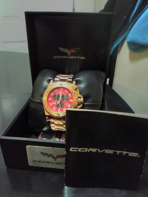 Complete RARE Goldtone Corvette WP Wrist Watch for Sale in Charles Town, WV
