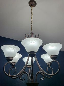Bronze Chandelier 6 Bulb for Sale in Bothell,  WA