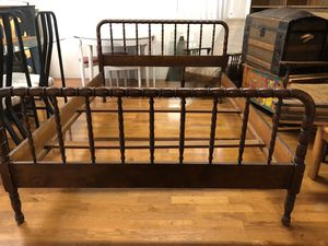 Antique Doernbecher Manufacturing company of Portland Cane style bed for Sale in Bellevue, WA