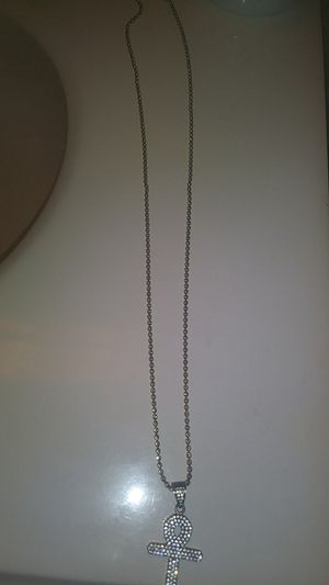 Italian gold plated chain and Ankh pendant for Sale in FAIRMOUNT HGT, MD
