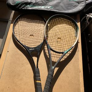 Wilson & Prince Tennis Rackets for Sale in Harrison charter Township, MI