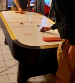 Air Hockey Table 8 Pucks 5 Paddles for Sale in Belmont,  CA