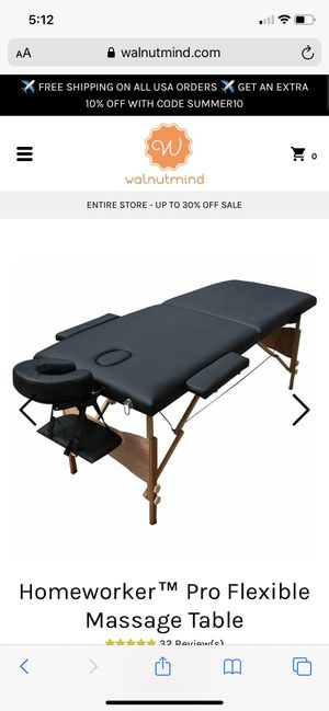 Massage table for Sale in Lynnwood, WA