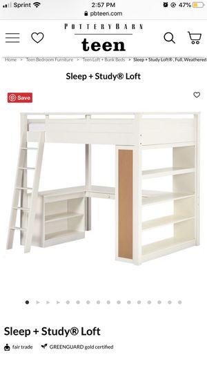 White Loft with Desk , Ladder and Side BookCase (no mattress ) for Sale in Miami, FL