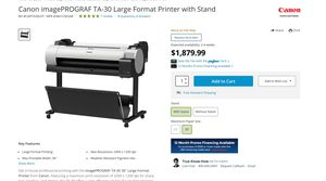 Canon Large Format Printer with Stand for Sale in Los Angeles, CA