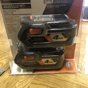 Ridgid 4ah Batteries 2 Pack for Sale in Depew, NY
