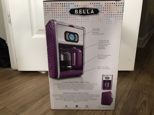BELLA DIAMOND COLLECTION COFFEE MAKER **BRAND NEW**