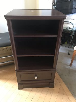 Cherrywood Two Shelf One Drawer Cabinet for Sale in Romeoville, IL