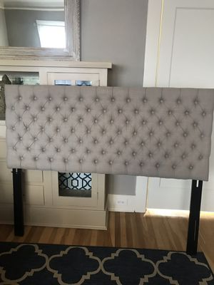 Beautiful upholstered style queen head board for Sale in Portland, OR