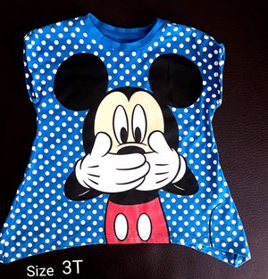 Disney Mikey mouse girls Tee Tshirt Top Size 3T for Sale in Phoenix, AZ