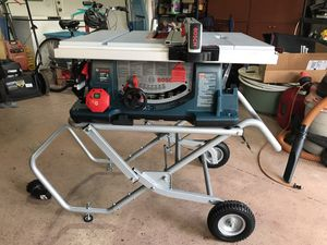 Bosch 10in Carbide-Tipped Blade 15amp Portable Table Saw for Sale in Tavares, FL
