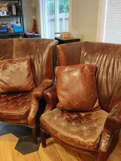 Restoration Hardware Leather Chairs for Sale in Kent,  WA