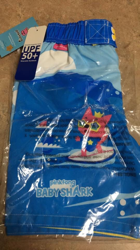 Licensed Character pinkfong BABY SHARK 4T SWIM TRUNKS