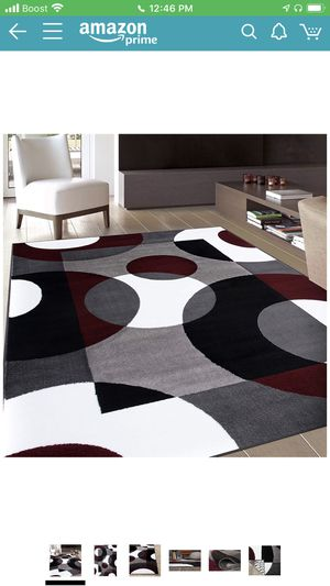 Contemporary Modern Circles Area Rug for Sale in Washington, DC