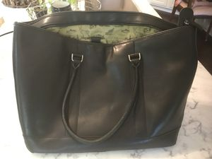 Black LL Bean multi-purpose leather bag for Sale in Mableton, GA