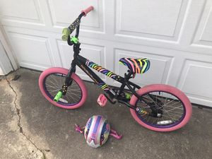 "Girls 18"" little miss matched bike & helmet for Sale in Chesapeake, VA"