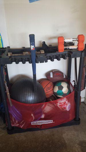 Rubbermaid sports equipment organizer for Sale in Dallas, TX