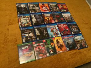 Xbox one Nintendo switch PS4 games for Sale in Clovis, CA