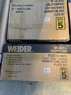 Olympic Weight Set and 7ft Olympic Weight Bar for Sale in Rio Linda,  CA