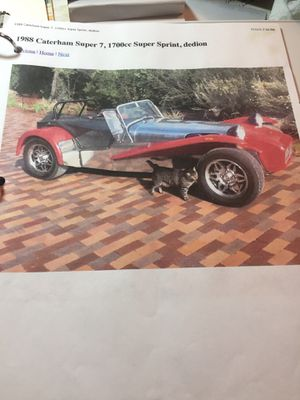 LOTUS 1988 Caterham + trailer for Sale in Ashland, OR