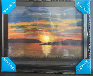 Sunset Painting- Framed for Sale in San Diego, CA