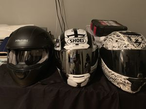 ******READ BEFORE YOU OFFER USED motorcycle helmets (Large)****** for Sale in Hacienda Heights, CA